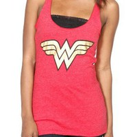 DC Comics Wonder Woman Logo Girls Tank Top Plus Size