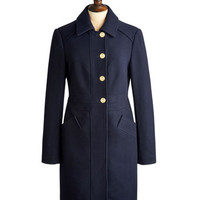 Marine Navy Duchess Womens Tweed Coat  | Joules UK