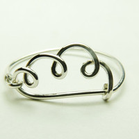 cloud ring - handmade sterling silver wire ring like cloud