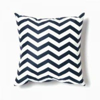 Twinkle Living Zigzag Pillow Navy Cotton Pillows