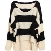 A 072919 bb Short in front long loose bat sleeve sweater