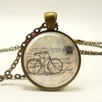 Bicycle Necklace, Hipster Vintage Style Bike Pendant, Bronze (0473B...... | CellsDividing - Jewelry on ArtFire