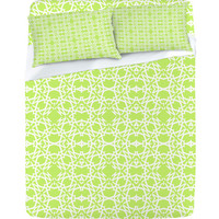 DENY Designs Home Accessories | Lisa Argyropoulos Electric In Honeydew Sheet Set