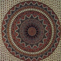 Giant Wall Tapestry ~ Brown India Circle ~ Approx 7.5 x 8.25 Ft:Amazon:Home & Kitchen