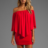 James & Joy Mina Convertible Dress in Red