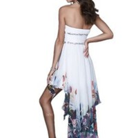 Amazon.com: La Femme 16289, Strapless Chiffon Dress: Clothing