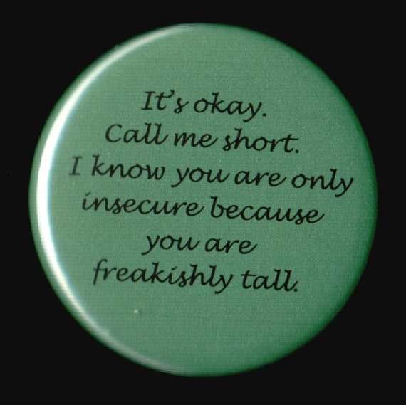 You Can Call Me Short Button by kohaku16 on Etsy