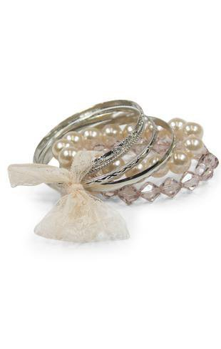 beaded bangle set  - debshops.com