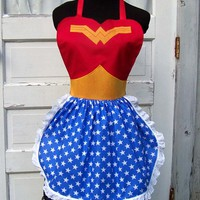 Wonder Woman Apron Cosplay Costume SuperHero