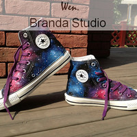 New,Galaxy Converse,Studio High Top Hand Painted Shoes 48.99Usd,Paint On Custom Converse Shoes Only 88Usd,Buy One Get One Phone Case Free