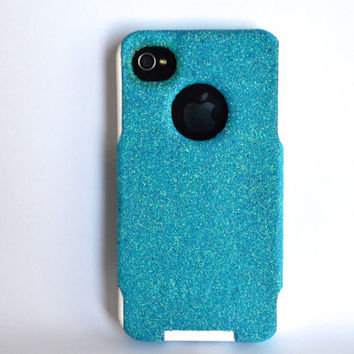 iPhone 4/4s glitter Otterbox Case  Custom  Glitter by NaughtyWoman