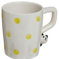 Polka Pet Coffee Mug in Panda | Mod Retro Vintage Kitchen | ModCloth.com