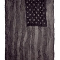 John Varvatos | Antique Printed Flag Scarf in Black