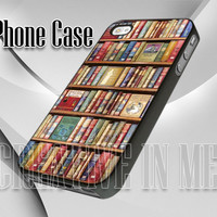 0095 Library Bookshelf - by CreativeInMe - Leave A Note - iPhone 4/4s, iPhone 5, Samsung S3 i9300, Samsung S4 i9500, iPod 4, iPod 5