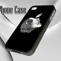 11238 Star Wars Inspired Death Star Apple - by CreativeInMe - Leave A Note - iPhone 4/4s, iPhone 5, Samsung S3 i9300, Samsung S4 i9500, iPod 4, iPod 5
