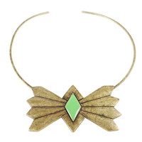 The Bandit Bow Tie Choker / Antique Brass (view more colors) - The 2 Bandits