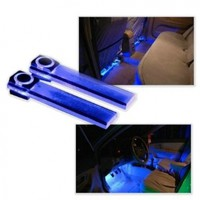 Wisedeal 4in1 12V Car Auto Interior LED Atmosphere Lights Floor Decoration Lamp Blue