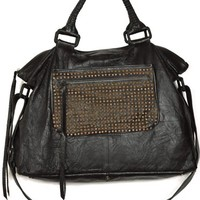Cleobella Black Lolita Tote w/ Studded Pocket
