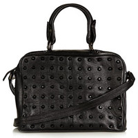 Studded Leather Holdall Bag