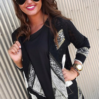 Navajo Nights Black Cardi | The Rage