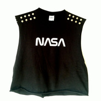 NASA Studded Crop Top