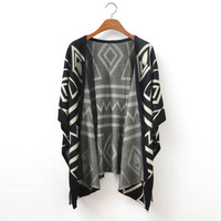 A 080101 European style temperament loose knit jacket