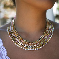 DIY Woven Chain Collar Necklace