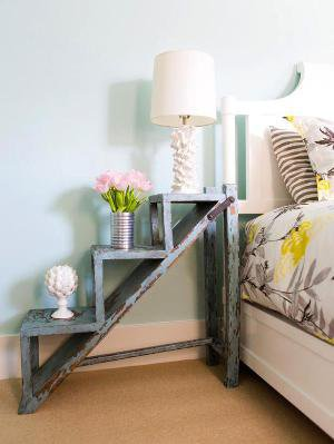 Garden step as nightstand