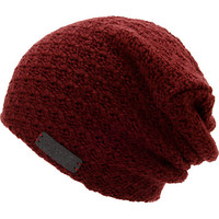 Neff Girls Grams Maroon Slouch Beanie at Zumiez : PDP