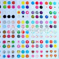 216pcs Cute Polka Dots Dots Colorful Rubber Bubble Home Button sticker for iPhone 3gs 4 4s 5 iPod touch 4 iPad 4