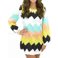 Ardessie Falls Chevron Dress