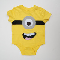 Minion Onesuit, 3-6 months yellow, gender neutral baby gifts