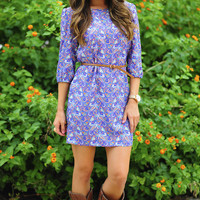 Pretty In Paisley Dress: Blue/Multi | Hope's