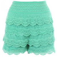 The Mint Lace Skirt