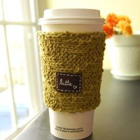 Latte Love OntheGo Cup Cozy by KnitStorm on Etsy