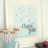 Choisis la joie 85x11 Pep Art Collection by evajuliet on Etsy