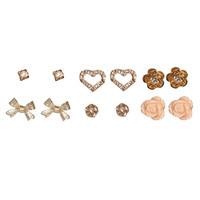 6 Diamond Dust Earring Set | Shop Jewelry at Wet Seal