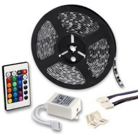 5050 SMD LED Strip Rope Light 16.4FT Remote Control RGB Color Changing 12V For Stair Stepway TV Wall:Amazon:Patio, Lawn & Garden
