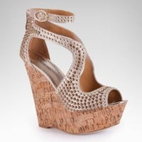 bebe | Caitlyn Studded Wedge Sandal