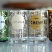 YAVA Glass Recycled Boylan's Soda Bottle Glasses by YAVAglass