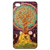 Tree of Love Hard Back Shell Case Cover Skin for Iphone 4 4g 4s Cases Flower Love in Art - Black/white/clear