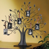 BRONZE FAMILY TREE PICTURE FRAME - BRONZE FAMILY TREE WITH 6 HANGING PICTURE ...:Amazon:Home & Kitchen