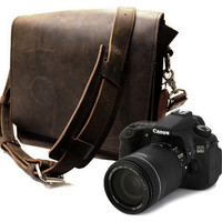 MissionCameraBag Brown Thick Full Grain by CopperRiverBags
