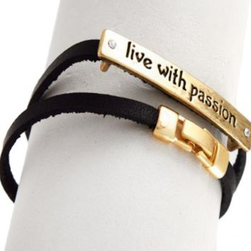 live with passion Double Wrap Leatherette