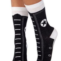 Hi-Top Socks in Black | Mod Retro Vintage Socks | ModCloth.com