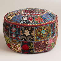 Small Black Pouf | World Market
