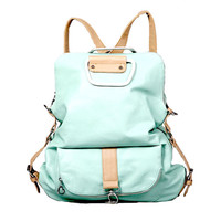Mint Green Multifunction Backpack &Handbag