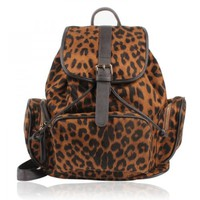 Sexy Leopard Prints Leather Backpack