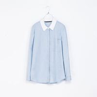 SHIRT WITH CONTRAST COLLAR - TRF - New this week | ZARA United States