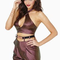 Nasty Gal Collection Chroma Halter Top